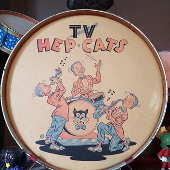 1950's TV Hep Cats Toy Drum Set - Toys