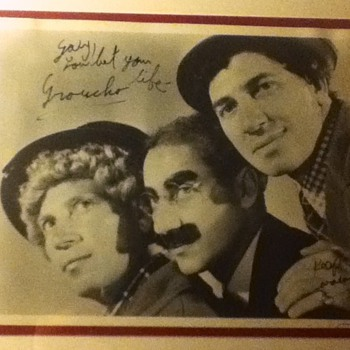 Groucho Marx Autographed Still