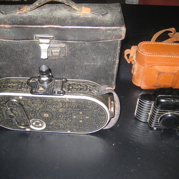 2 Old Cameras Bell &amp; Howell and Kodak Bantam - Cameras