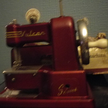 Today's Find A Vulcan Senior Child's toy sewing machine made by singer in the 60's