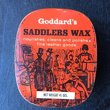 Goddard's saddlers was tin and a few other polish tins. - Advertising