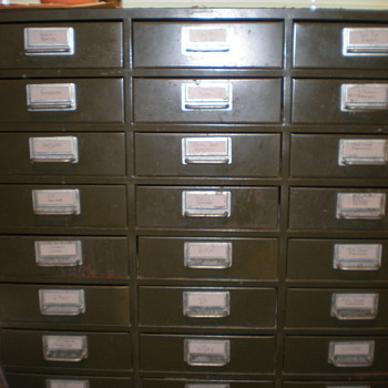 Metal 30 Drawer Cabinet - Furniture
