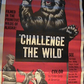 "Vintage Movie Poster ""Challenge The Wild"" Wild Alaska - Movies"