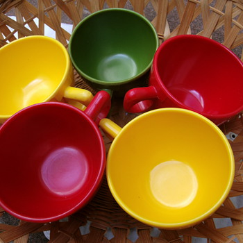 Vintage coffe cups set.