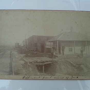 Cabinet Card Railroad Yard Huntsville Alabama