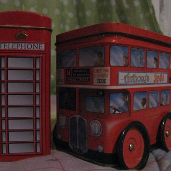 Traditions of Britain: double decker bus & phone cabin