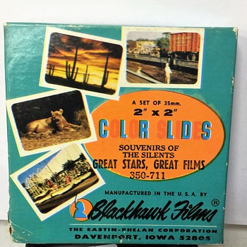 """Some Awesome Blackhawk 2 x 2 """" slides of The Silent Great Stars &  Great Films  - Photographs"""