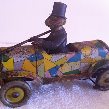 My Rare uncle wiggilys 1930s tin wind up car