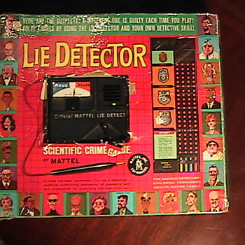 1960s LIE DETECTOR Game by Mattel  - Games