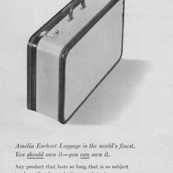 1950 Amelia Earhart Luggage Advertisement - Advertising