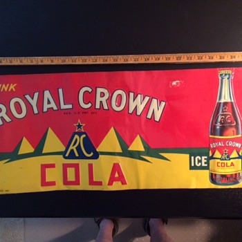1936 (we think) RC Cola Sign From Old Butcher Shop in San Antonio - Signs