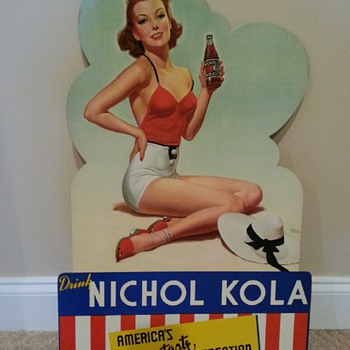 Nichol Kola cardboard sign - Signs