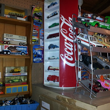 Coca-Cola Rotating Display. Linemar Tin Toy