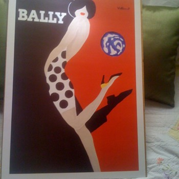 Villemot Bally Poster