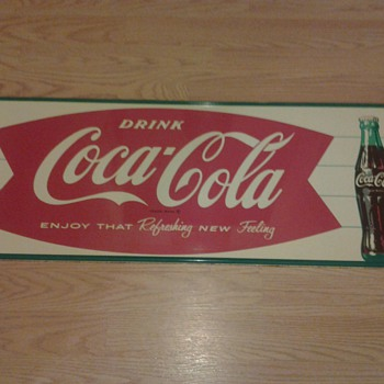  Coca Cola  &quot;Enjoy That Refreshing New Feeling&quot; Sign