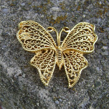 Napier Butterfly Brooch - Costume Jewelry