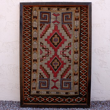 Old Native American Blanket / Rug - Native American