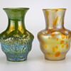 the same but different... two Loetz vases circa 1900