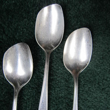 Rare Type of Serving Spoons? - Silver