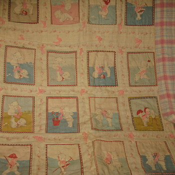 I have inherited a quilt made from Kewpie blocks probably from the early 1900's and would like more information about the quilt