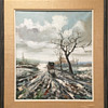 """Beautiful Oil Painting 17.5"""" x 20.5"""" image area in old wood frame."""