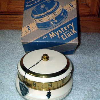 Another Lux Mystery Annular Clock  Boxed Beauty, 1935