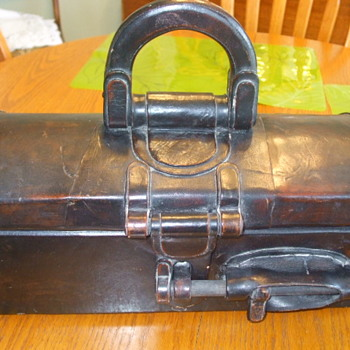 Old & Unusual Domed Storage/Travelling Case in Leather- Old or New