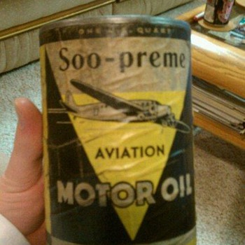 Soo-preme Aviation Motor Oil - Petroliana