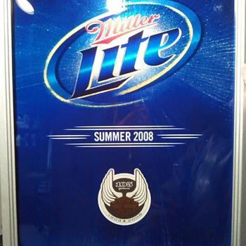 Miller Lite Harley Davidson 105th Anniversary Mirror - Breweriana