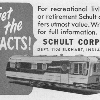 1953 - Schult Mobile Homes Advertisement