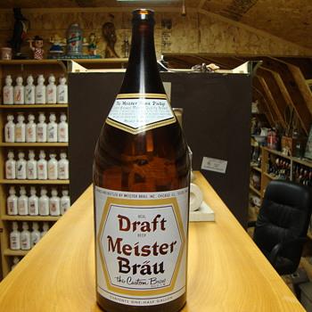 1/2 Gallon Draft Meister Brau Beer Bottle........ - Breweriana