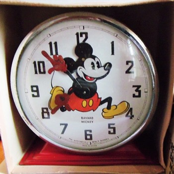 "1938 Bayard ""Nodder"" Mickey Mouse Alarm Clock - Clocks"