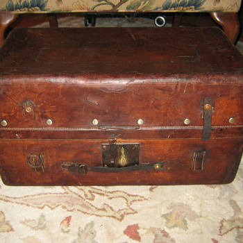 Leather Stagecoach Trunk