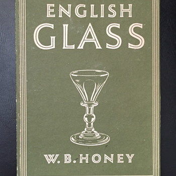 English glass W.B. Honey. - Books
