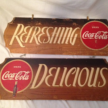1940's Coca-Cola Wood Sign - Coca-Cola