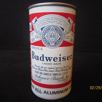 1963 Hamm's Dog Bone Zip Top Air Filled New All Aluminum Brewed & Canned by Anheuser Busch of St. Louis MO at Tampa FL Beer Can