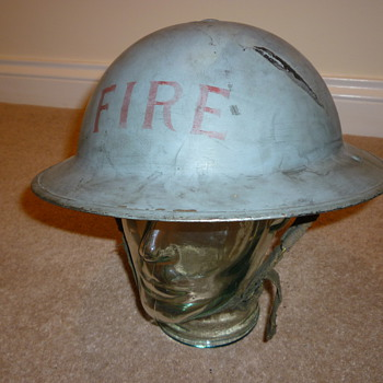 WW11 Civilian Fire brigade steel helmet  - Military and Wartime