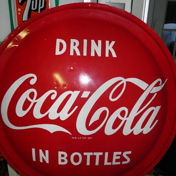 Fiberglass Coca-cola Button sign - questions?