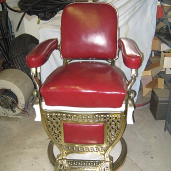 #1 Barber Chair from the Biltmore Hotel In Los Angeles