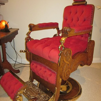 Antique Koken Congress Hydraulic Barber Chair Circa 1910