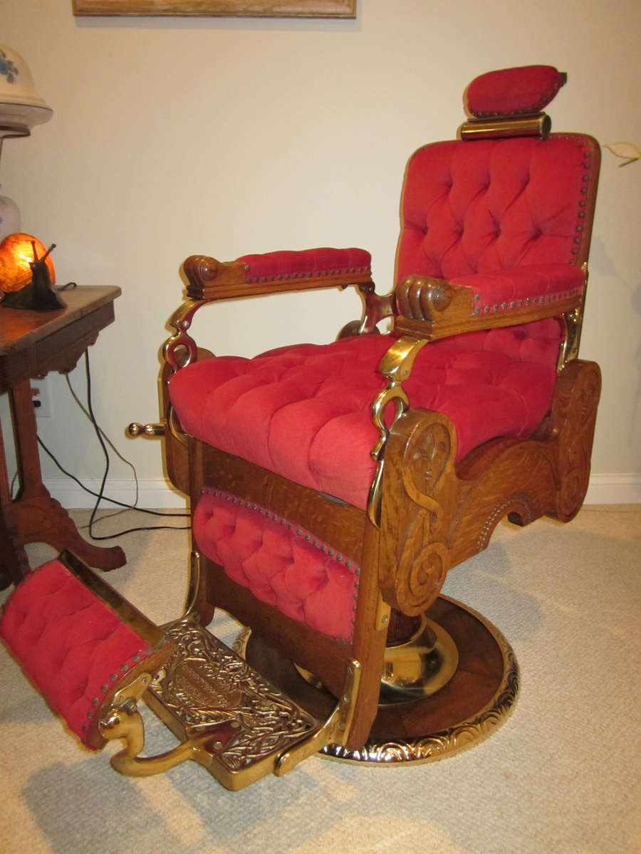 Antique barber chairs koken - Antique Koken Congress Hydraulic Barber Chair Circa 1910 Collectors Weekly