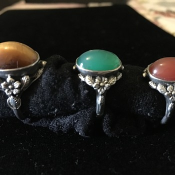 Arts & Crafts style rings by Shipton & Co