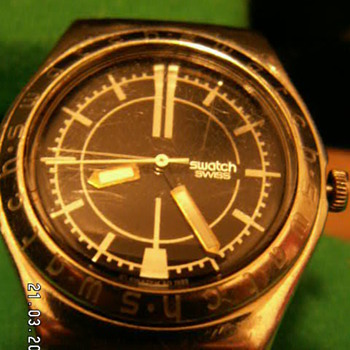 "Early 1990's Swatch ""Irony"" Stainless Steel Watch ~ Switzerland"