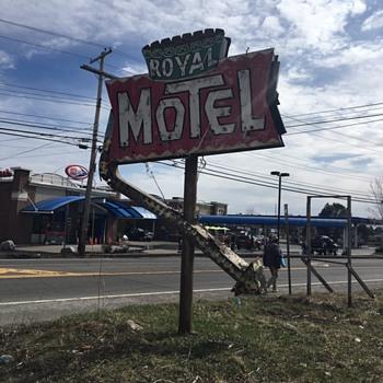 Hotel sign neon porcelain