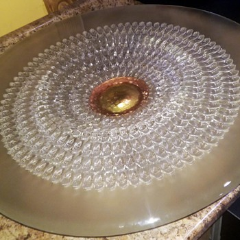 "24"" glass art dish  - Art Glass"