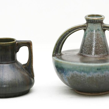 Two Small Vases, (France), 1920-1930 - Art Pottery