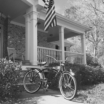1949 and its Mom, Apple pie, 4th of July and a 1995 Centennial Schwinn Black Phantom built from original equipment and tools  - Sporting Goods