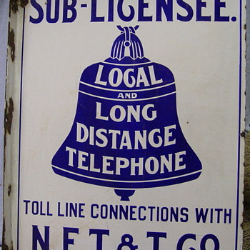 New England Telephone &amp; Telegraph Sub-Licensee Sign - Telephones