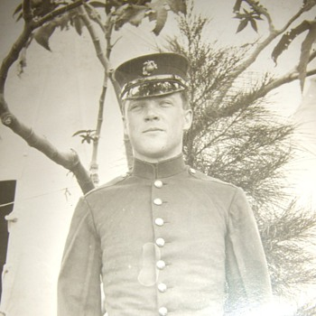 Early USMC in dress uniform