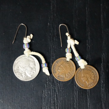 Native American Indian Head Earrings - Native American